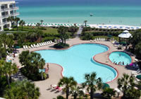 A Destin Landmark This Crescent Shaped Resort Is Located Directly On The Gulf Of Mexico In Miramar Beach Offers Elegant 1 2